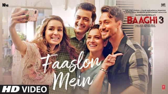 फासलों में Faaslon Mein Lyrics In Hindi - Baaghi 3