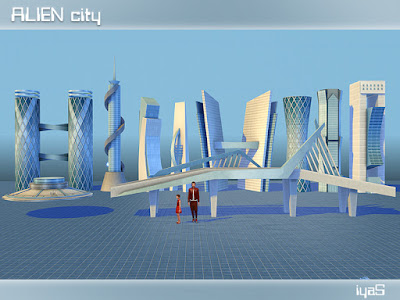 Alien City Чужой Город для The Sims 4 Вдохновлен самыми красивыми зданиями этого мира. В комплект входят 8 зданий, мост и НЛО. Каждый объект имеет 1 цветовую вариацию и может быть найден в категории Украшение - Разное. Автор: soloriya