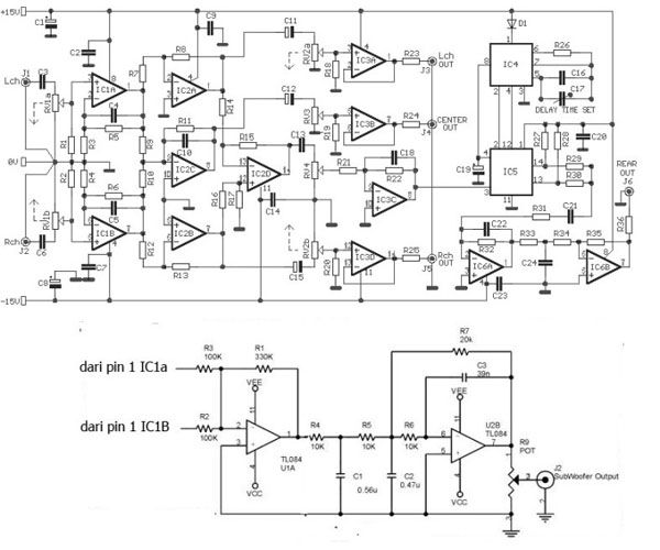 schematic audio amplifier with ic an5265