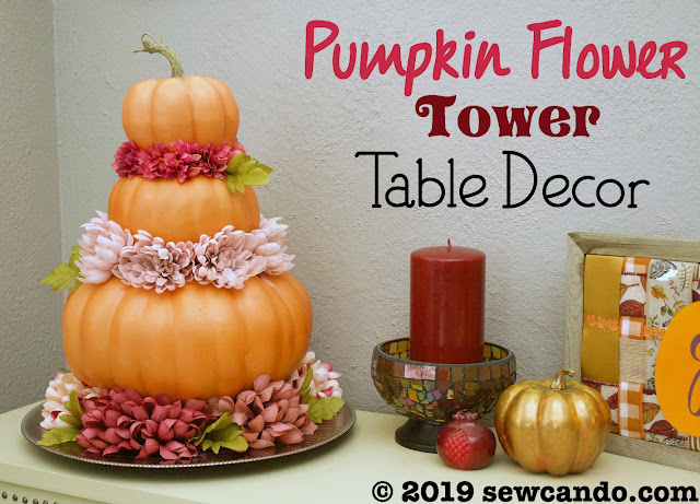 pumpkin flower tower