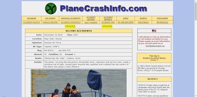 Situs Terlarang Mengerikan di Dunia - Plane Crash Info