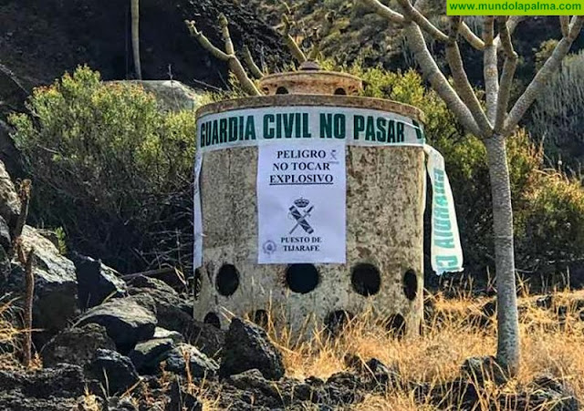 Identificada una posible carga de profundidad de la II Guerra Mundial en Tijarafe