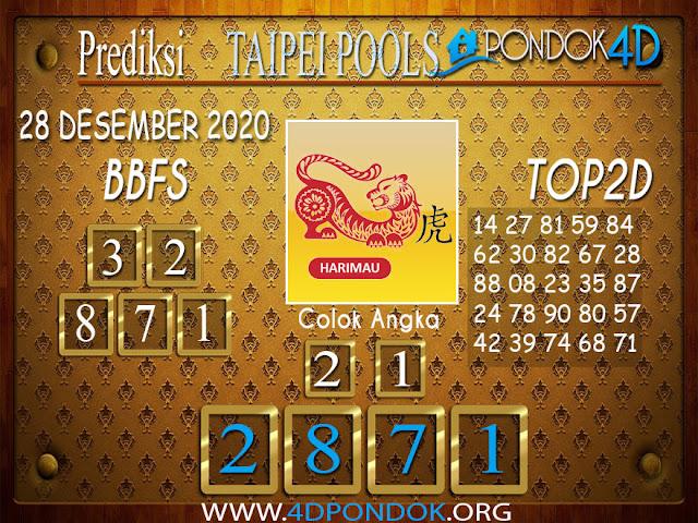 Prediksi Togel TAIPEI PONDOK4D 28 DESEMBER 2020