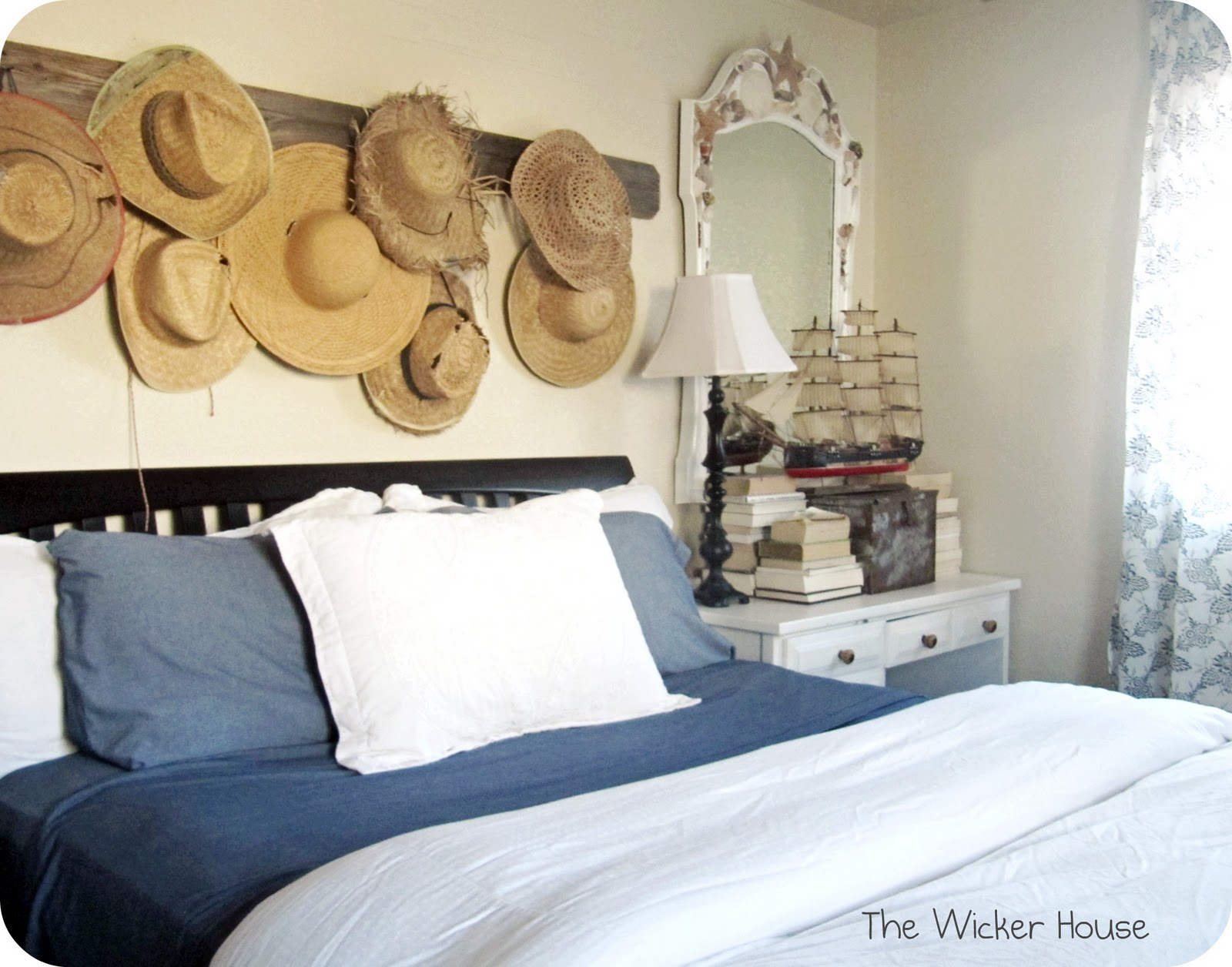 Decorating With Straw Hats Part 2 The Wicker House