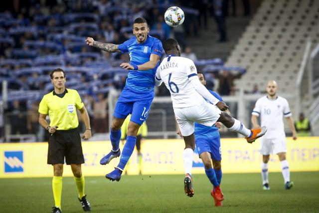 Στιγμιότυπο από το ματς Φινλανδία - Ελλάδα 1-0