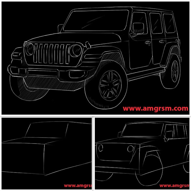 How to draw Jeep Wrangler - Step by Step