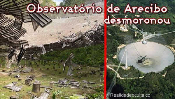 Radiotelescópio de Arecibo desmoronou