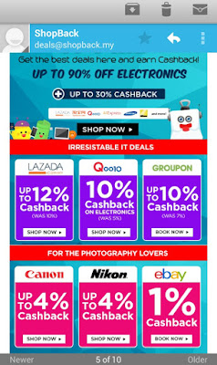 Shopping and Earn Cashback! =)