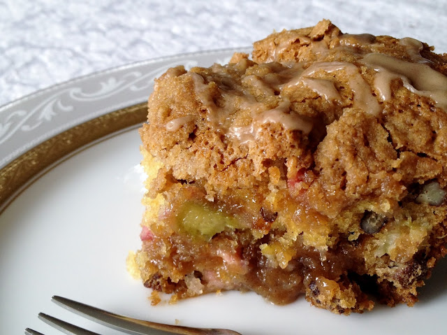 Gluten Free Rhubarb Coffeecake