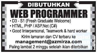 Lowongan Kerja Web Programer