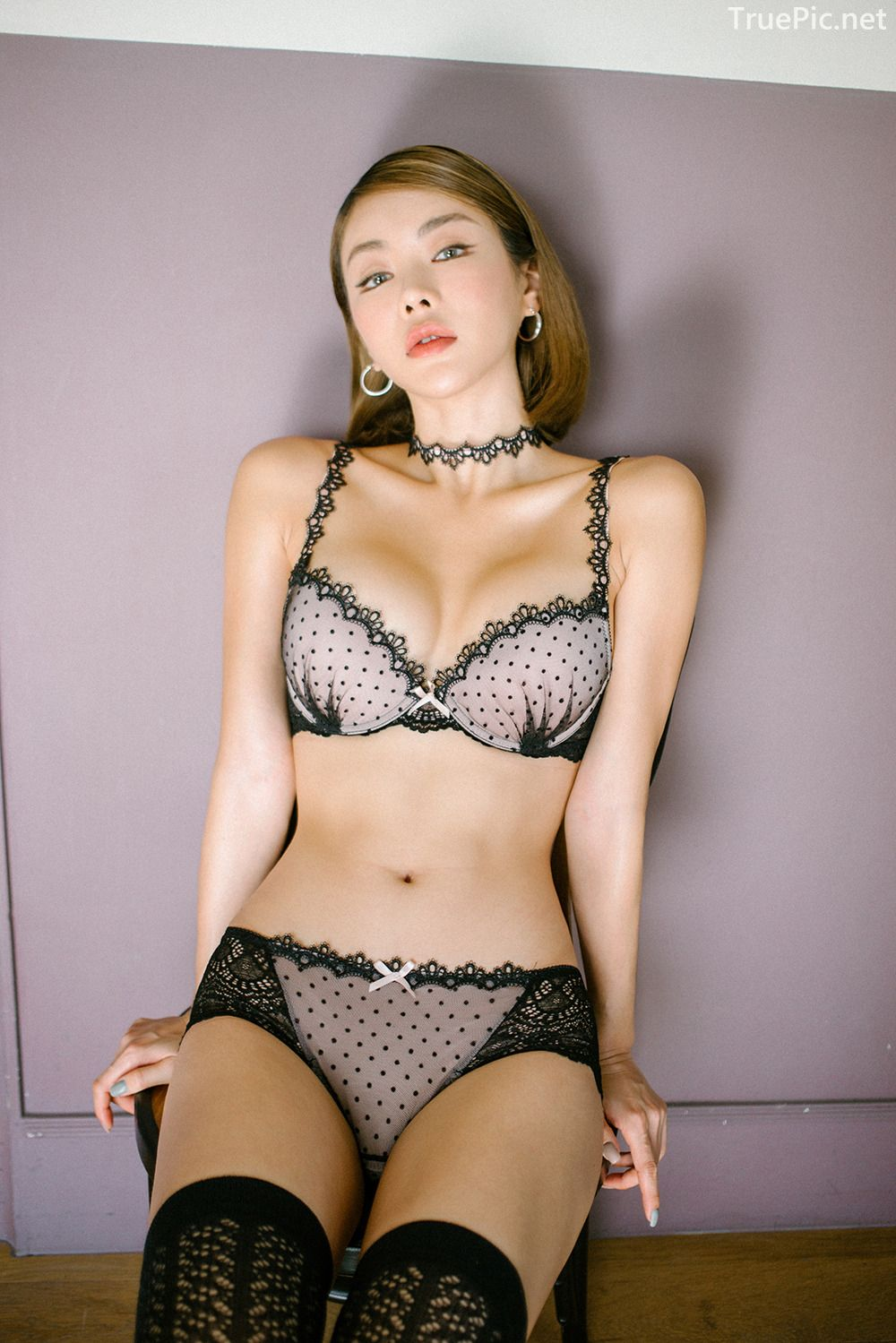 Lingerie queen An Seo Rin - Choker Lingerie Set - Korean model fashion - Picture 8
