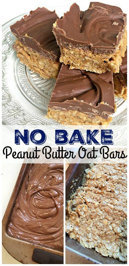 Easy No Bake Peanut Butter Oat Bars