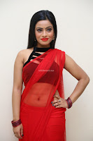 Aasma Syed in Red Saree Sleeveless Black Choli Spicy Pics ~  Exclusive Celebrities Galleries 069.jpg