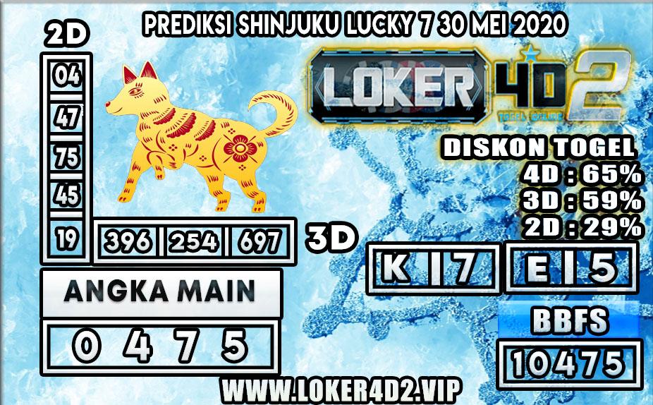 PREDIKSI TOGEL SHINJUKU LUCKY 7 LOKER4D2 30 MEI 2020