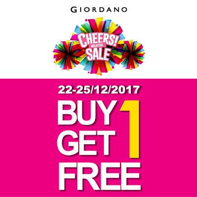 Giordano Malaysia Stores Buy 1 Free 1 Sale Promo