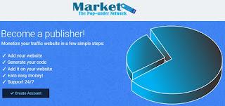 MarketAds, publicidad PopUnder en CPM