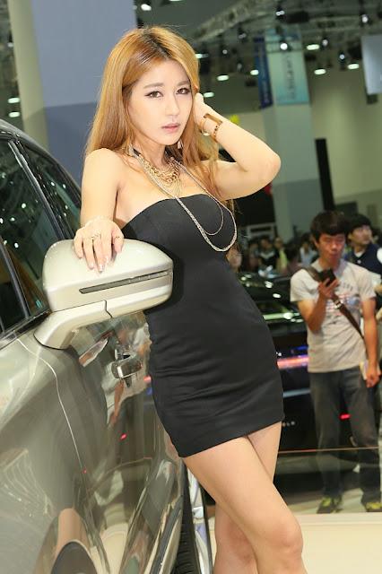 5 Park Si Hyun Sexy In Black - very cute asian girl-girlcute4u.blogspot.com