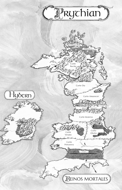 mapa de Prythian en ACOTAR novelas