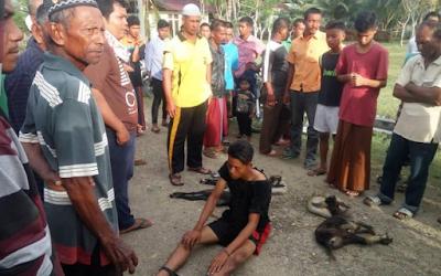 Dua Nelayan Curi Kambing di Kuala Cangkoi Diamuk Warga