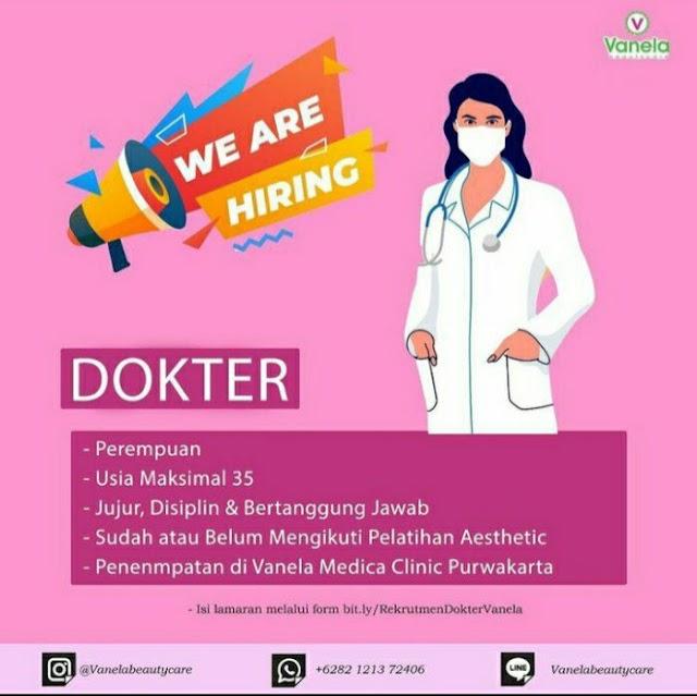 Loker Dokter Vanela Medica Clinic Purwakarta