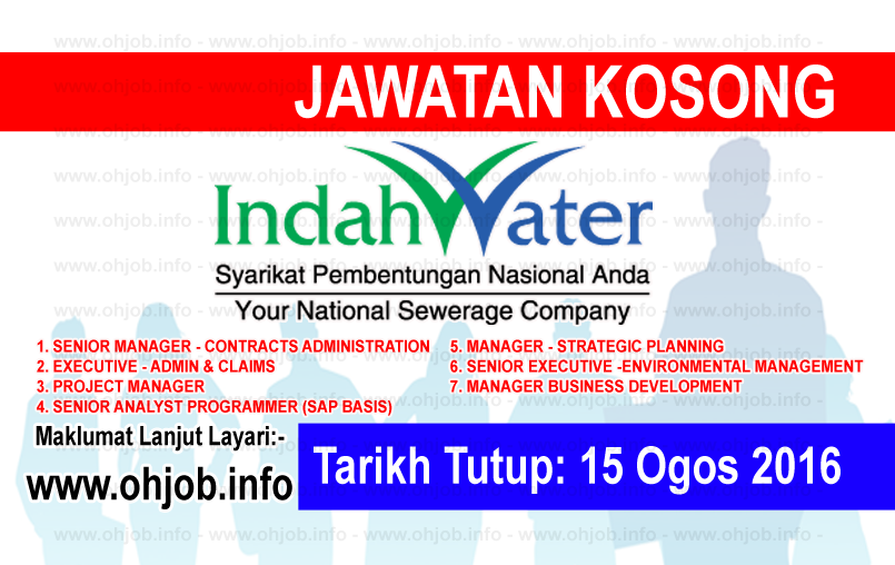 Jawatan Kerja Kosong Indah Water Konsortium (IWK) logo www.ohjob.info ogos 2016
