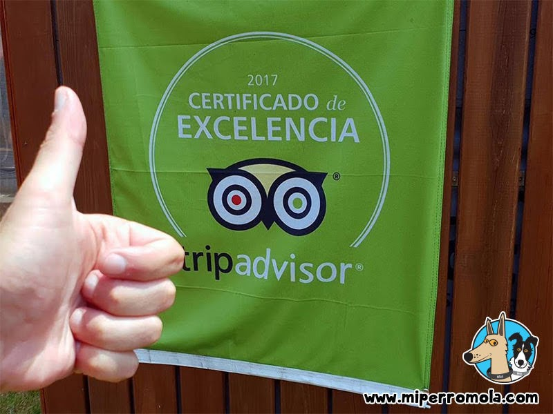 Certificado TripAdvisor de la Casa Rural A Cantaruxa Maruxa