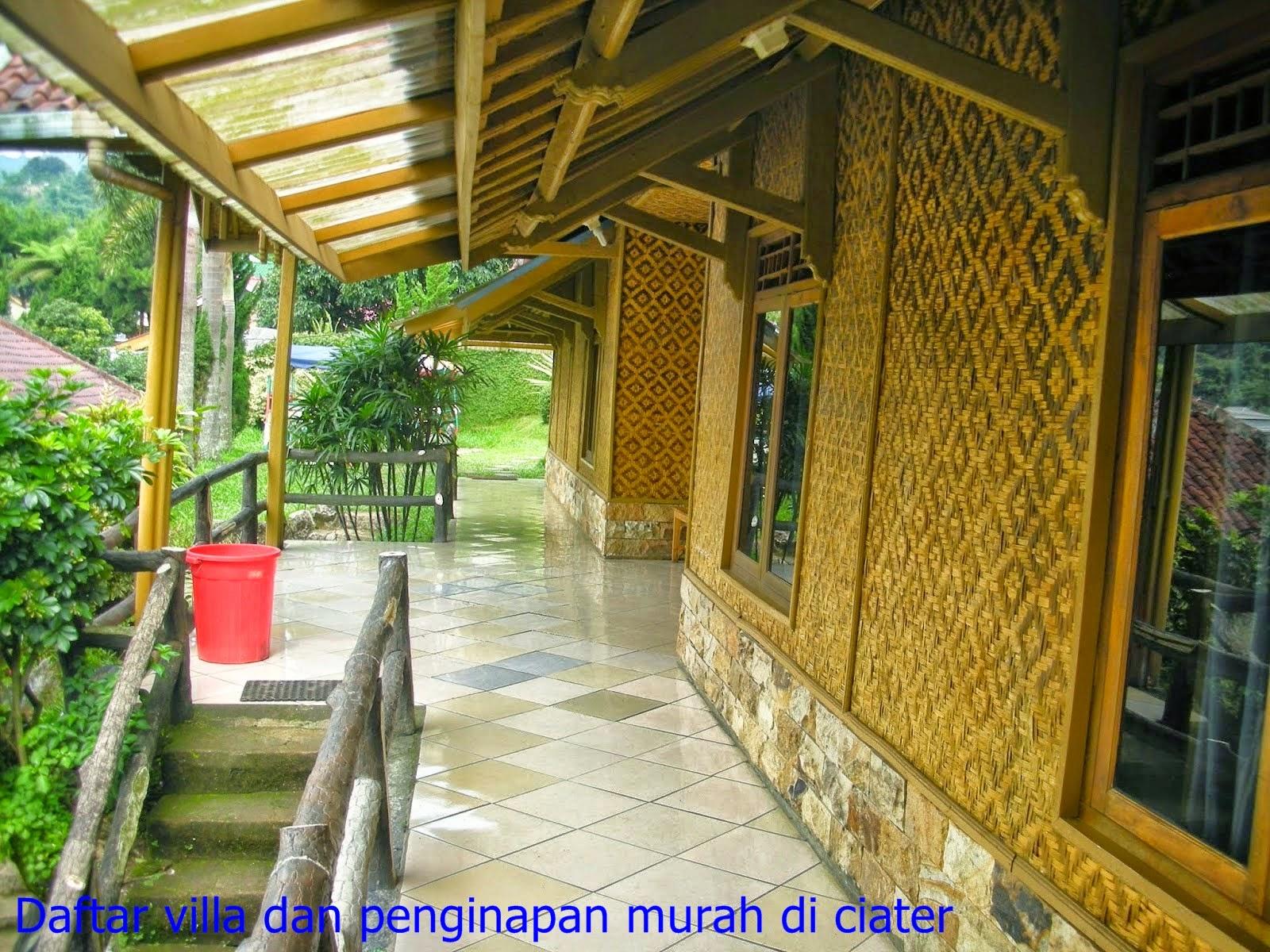 halaman depan villa penginapan ciater