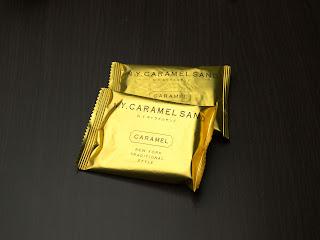 N.Y.キャラメルサンドの個別包装