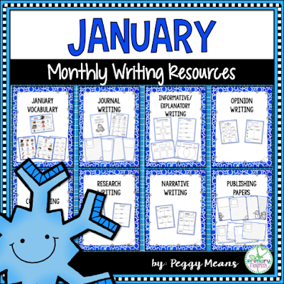 This Writing Resource set is packed with graphic organizers to meet all your writing needs for January. Your students will enjoy writing with these motivating resources. The resources are set up so that you and your students can choose the writing topics – you are not locked in to specific topics!