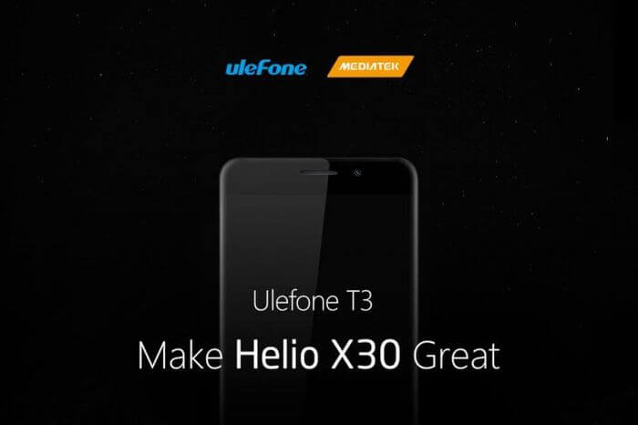 Ulefone T3: the most powerful processor MediaTek and 8 GB RAM