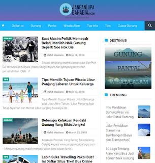 Infinite JLB AMP BloggerTemplate 2020