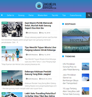 Infinite JLB AMP BloggerTemplate 2020