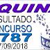 Resultado da Quina concurso 4787 (27/09/2018) ACUMULOU!!!