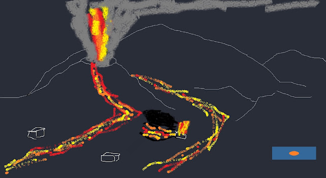 vulcano della Cumbre Vieja, nell'isola della Palma