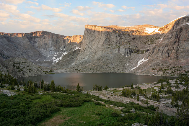Sunrise at Lost Twin Lakes in the Bighorn Mountains Wyoming