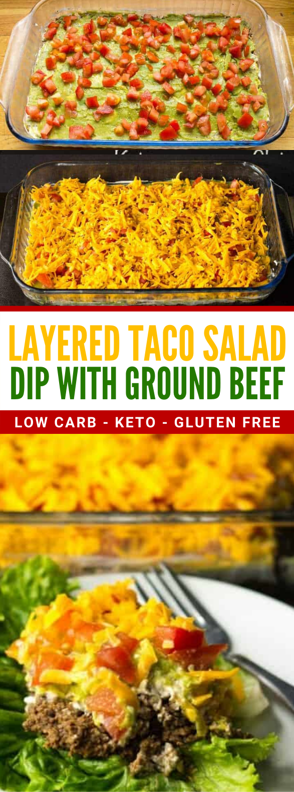 Taco Dip with Meat (Keto, Low Carb) #diet #salad