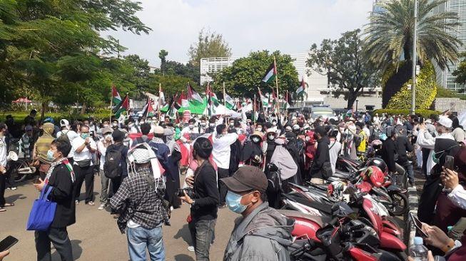 3 WN Palestina Ditahan Pihak Imigrasi saat Ikut Demo di Kedubes AS