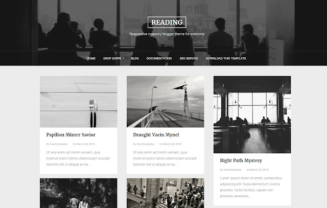 Reading Responsive Personal Blog Tutorial Tips and Tricks Blogger Template Theme