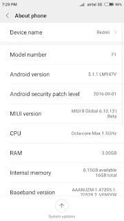 Custom Rom Oppo F1 MIUI 8