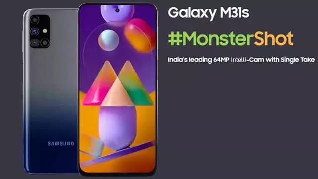 Samsung Galaxy M31s launched in India with 64MP Camera: 6,000 mAh Battery with 25W Fast Charger