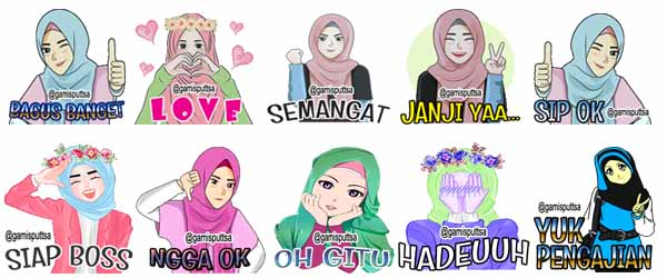 Sticker Hijab