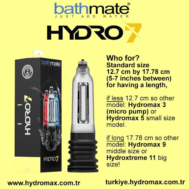 bathmate hydro 7 standart penis pump size chart