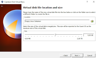 Membuat hard disk virtual di virtual box