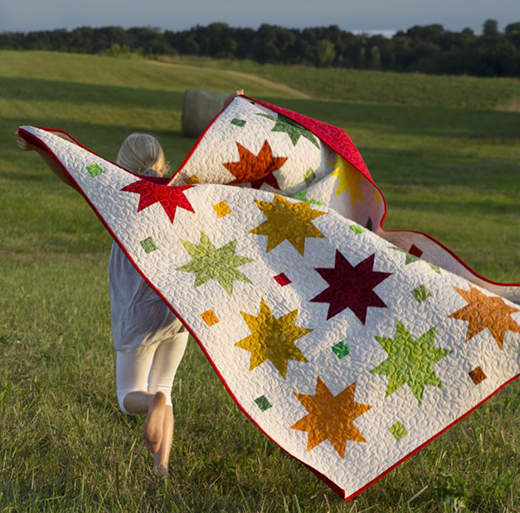 Autumn Stars Quilt Free Tutorial designed by Jenny of Missouri Quilt Co