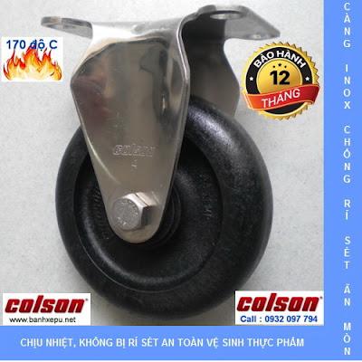 Bánh xe đẩy hàng chịu nhiệt thermo càng inox 304 Colson | 2-4408-53HT banhxedayhang.net