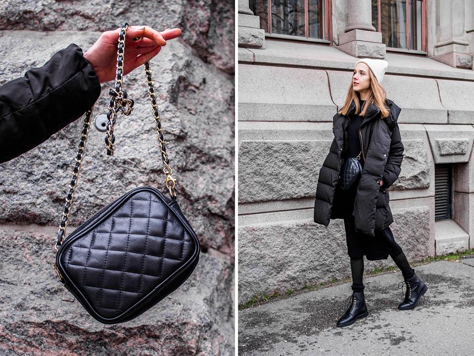 All black winter outfit, Scandinavian streetstyle - Kokomusta talviasu, skandinaavinen tyyli