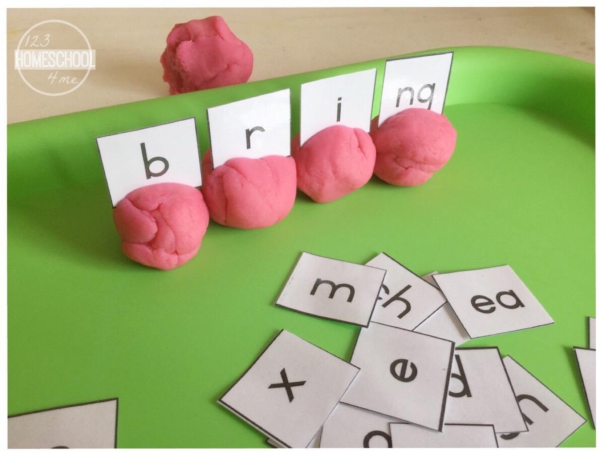Phonemic Awareness With Playdough Balls