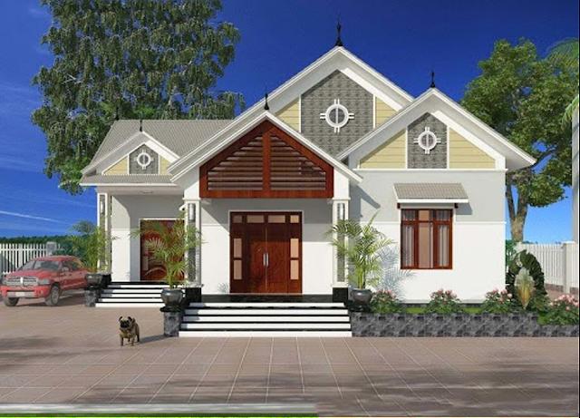 sơn nhà màu trắng hình 2