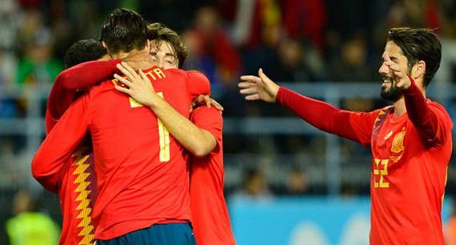 cuplikan gol spanyol vs costa rica 5-0