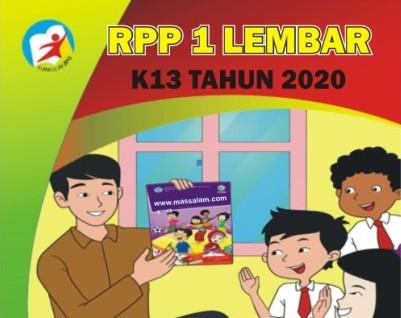 Contoh RPP K13 1 Lembar SD/MI Semester 2 Tahun 2020